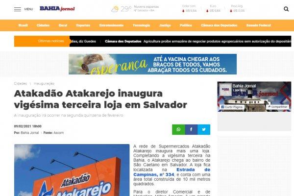 Atakadão Atakarejo inaugurou a vigésima terceira loja em Salvador