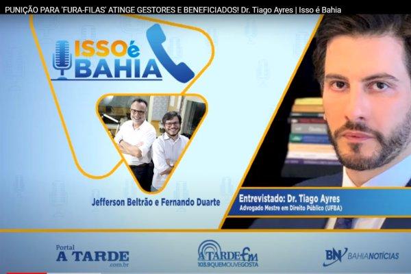 [Confira a entrevista com nosso cliente Tiago Ayres para o programa Isso é Bahia na rádio A Tarde FM ]